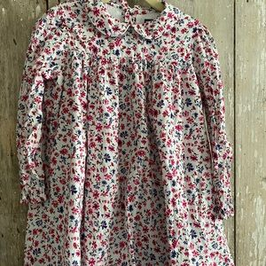 Busy Bee Floral Long Sleeve Cotton Dress 5T